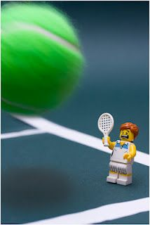 """So, are we using a real Tennis ball or a Lego Tennis ball? What the @@@@!"" Great work from Fred is Design."