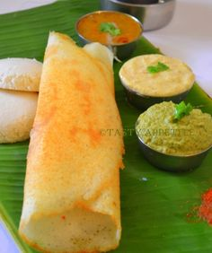 Dosa with sambhar. South Indian food.