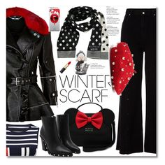 """""""Winter Scarf"""" by ilona-828 ❤ liked on Polyvore featuring Frontgate, Alexander McQueen, River Island, Moschino, Fifth & Ninth, polyvoreeditorial and winterscarf"""