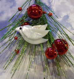 Christmas Peace Doves Set of Four Fused Glass by FusingFrenzy, $18.00