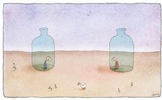 Bottles - Michael Leunig cartoon Living Treasures, Australian Artists, Beautiful Words, Grief, In This Moment, Depression, Bottles, Cartoons, Death