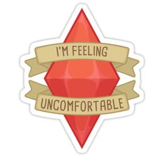 """""""I'm Feeling Uncomfortable Plumbob"""" Stickers by PogoAGogo Journal Stickers, Scrapbook Stickers, Laptop Stickers, Printable Stickers, Cute Stickers, Sims Memes, Create This Book, Bullet Journal Hacks, Small Art"""