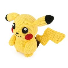 I had to crochet the most famous Pokemon of them all: Pikachu! Also think it's one of the cutest Pokemon. This amigurumi pattern is FREE. Amigurumi Pikachu, Crochet Pikachu, Pokemon Crochet Pattern, Crochet Hippo, Crochet Amigurumi Free Patterns, Amigurumi Doll, Pokemon Dolls, Pokemon Craft, Crochet Game