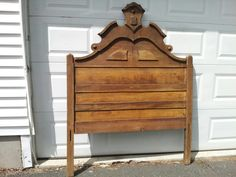 Before of my Antique Headboard.  Sold and to be painted.