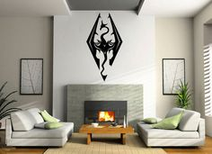The Elder Scrolsl V Skyrim logo Sticker Decal Wall by DcalGraphics, $4.00