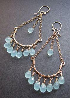 Venus Hammered drop earrings