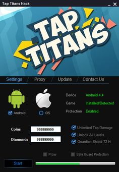 Tap Titans Hack (Android/iOS) Cheat 2016 tool download. With updated Tap Titans Hack (Android/iOS) you will have just fun. Try Tap Titans Hack (Android/iOS) tool. Tap Titans Hack (Android/iOS) working with last update.