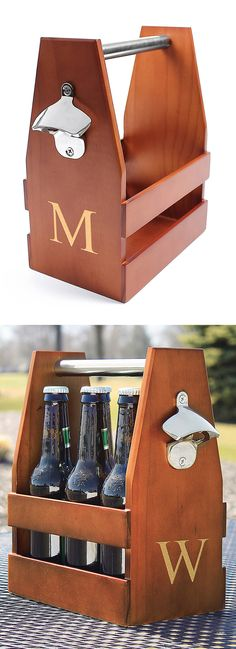 Craft beer carrier // with built-in bottle opener! #product_design