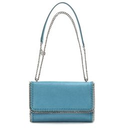 Stella McCartney - Falabella Shaggy Deer shoulder bag - Stella McCartney's Falabella Shaggy Deer shoulder bag is an essential for your daytime wardrobe. The compact size makes it ideal for carrying all your essentials, while the convertible chain and faux leather shoulder strap allows for multiple carrying options. The signature diamond-cut chain trim adds iconic appeal in a bright silver-tone finish. seen @ www.mytheresa.com