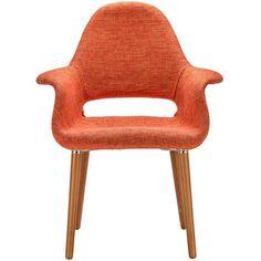 EdgeMod EM-141-ORA Barclay Dining Chair in Orange