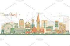 #Abstract #Dusseldorf #Skyline  by Igor Sorokin on @creativemarket