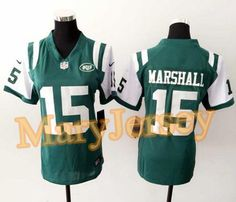 """$23.88 per one, welcome email """"MaryJersey"""" at maryjerseyelway@gmail.com for Nike Jets 15 Brandon Marshall Green Team Color Women Stitched NFL Elite Jersey"""
