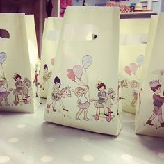 Belle and Boo party bags - @donnaflower- #webstagram