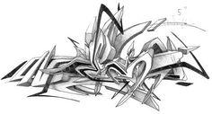 black and white sketch art daim