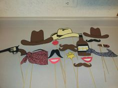 Western photo booth props