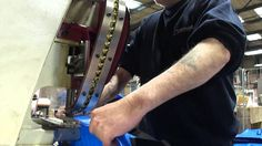 Automatic Eyelet Machine - Putting Brass eyelets in heavy duty mail sacks for the Police Service