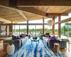 beach chic modern living room