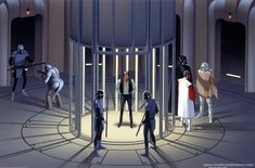 Ralph McQuarrie empire strikes back concept art - jail on cloud city