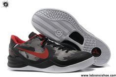 ... Wholesale Cheap Nike Zoom Kobe 8 Basketball shoes Mesh Grey Black University Red Shoes Store ...