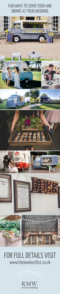 Food & Drink Trucks for Event & Wedding Hire | The Love Lust List | Rock My Wedding Hand Picked Wedding Supplier Directory | http://www.rockmywedding.co.uk/fun-ways-serve-food-drink-wedding/