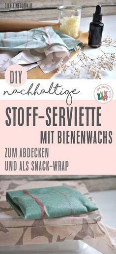 Aus einer einfachen Serviette wird ein wiederverwendbarer Wrap für den Snack. Perfekt für Picknick und unterwegs. Müllsparen und immer die Jause dabei.