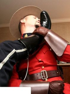 """bootsbound: """"Lick it clean, man! Love seeing a booted cop licking boots and sucking cocks! Leather Gloves, Leather Men, Mens Tall Boots, Bike Leathers, Hot Cops, Police Uniforms, Men In Uniform, Man Photo, Kinky"""