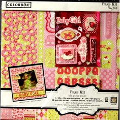 Colorbok 12 x 12 Baby Girl Scrapbook Page Kit is available at Scrapbookfare.