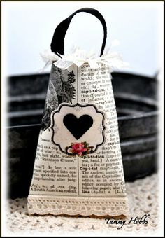 Treat Sack (made from toilet paper roll and printed pages), How to, from Creating Under the Sun by Tammy Hobbs.