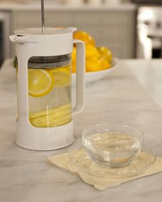 Pineapple and Lemon Infusion Drink. Pineapple and lemon turn basic hot water into a fun flavored beverage.