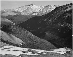 Ansel Adams: Long's peak, CO