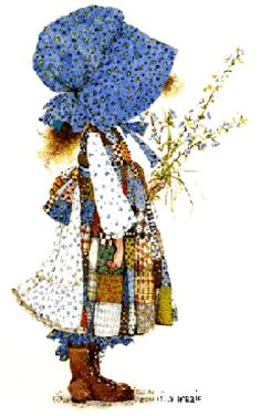 I have always loved Holly Hobbie.  I still have my first Holly Hobbie doll my sister bought me for my 5th or 6th b-day