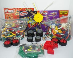 Knex Parts Mixed Lot 4+ lb Instructions Rods Gears Wheels Light Up Module +more #KNEX
