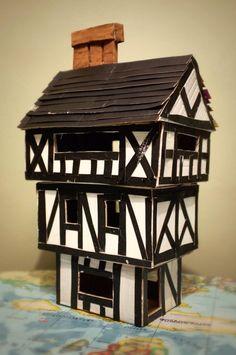 Tudor House for junior school project Ocean Projects, Stem Projects, School Projects, House Projects, School Ideas, Great Fire Of London, The Great Fire, Tudor House, Spaceship Design
