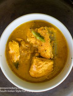 South Indian Style Fish Curry Here is a quick, easy and delicious, my way of preparing South Indian style fish curry. Though I am not from South India, I love the South Indian food, especially the curry patta tadka they give for most of the curies.