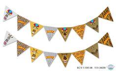 Banderines personalizados de madagascar cumpleanos