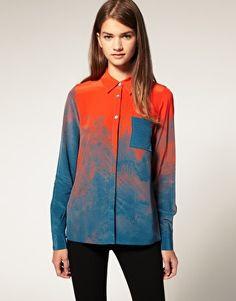 ASOS Premium Silk Water Printed Shirt ($50-100) - Svpply