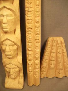 Harold Enlow Study Sticks - Faces (Step by Step examples to carve faces  mouths are separate)  2 of 3