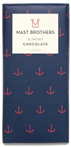 Almond Bar / Mast brothers / as cool as good as cute Best Chocolate Brands, Luxury Chocolate, Organic Chocolate, Luxury Packaging, Food Packaging, Brand Packaging, Packaging Design, Mast Chocolate, Mast Brothers Chocolate
