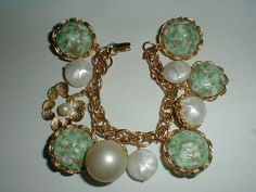 vintage gold plated huge chunky lucite pearl by fadedglitter42263, $58.00