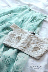 Such a pretty mint floral skirt with ivory crop top. Click on image to know price. #Frugal2Fab