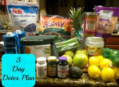3 day detox plan!  It was easier than I thought it would be and it tastes good too!