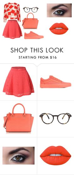 """""""clumsy book 1"""" by bellapaige-clxxi on Polyvore featuring LE3NO, Vans, Michael Kors, See Concept and Lime Crime"""