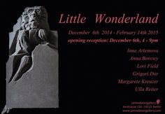 "janinebeangallery December 6th 4-9pm opening reception ""Little Wonderland"" accompanied by pastry and beverages, musically accentuated by the gramophone of master of ceremony Annouschka"