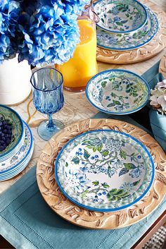 Beat the winter blues by making spring come early with a bright tablescape featuring Pier Classic Garden Melamine Dinnerware.