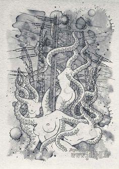 My Works, Vintage World Maps, Illustrations, Abstract, Artwork, Mythical Creatures, Work Of Art, Illustration, Illustrators