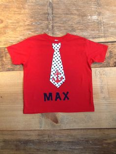 Boys 4th of July Patriotic tie shirt. Red by EverythingSorella, $27.50