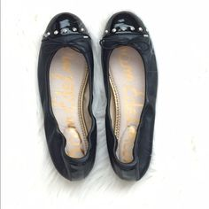 {SAM EDELMAN} Black Studded Ballet Flats Brand new, never worn. Beautiful leather flats with silver toned studs! Sam Edelman Shoes Flats & Loafers