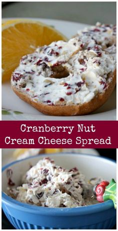 This Cranberry Nut Cream Cheese Spread is a festive addition to your breakfast or brunch this holiday season!