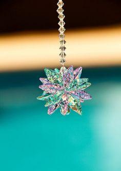 Swarovski Crystal Sun Catcher Sunburst 14mm by MelanyesCreations