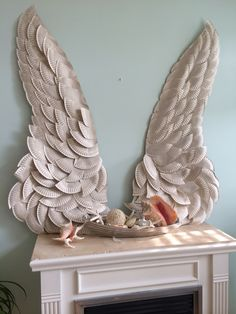 Finally did the paper plate wings! Note that the paper sucks up the paint more than you think it will.